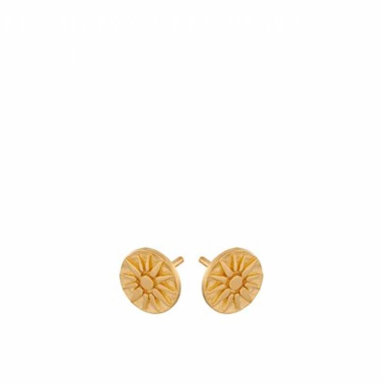Bali Stud Earrings In Gold By Pernille Corydon