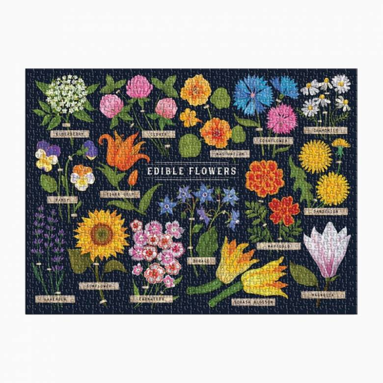 Edible Flowers - 1000 Piece Jigsaw Puzzle