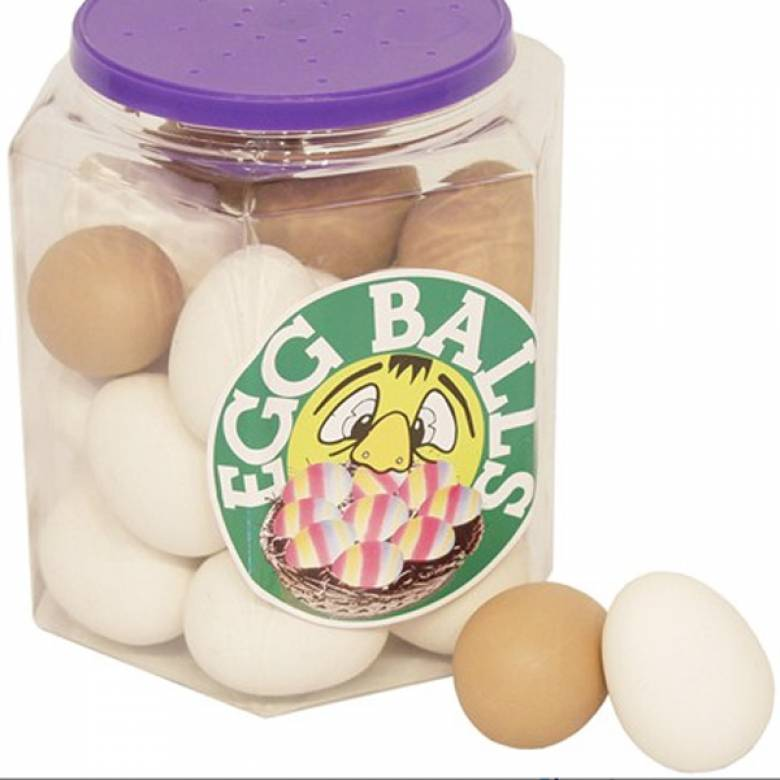 Egg Shaped Rubber Bouncy Ball