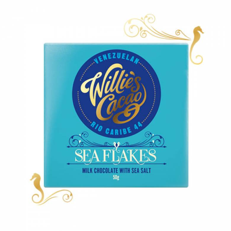Sea Flakes Milk Chocolate With Sea Salt 50g Willie's Cacao
