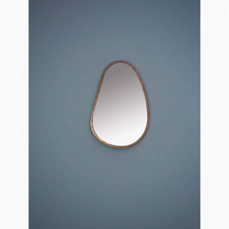 Elae Tear Drop Shaped Mirror With Gold Frame