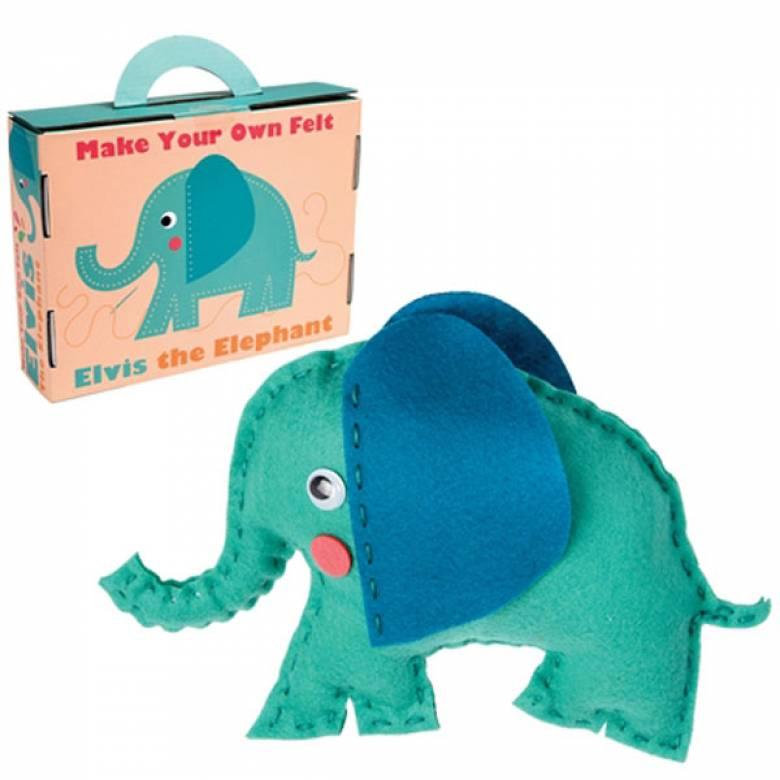 Make Your Own Elvis The Elephant Felt Kit