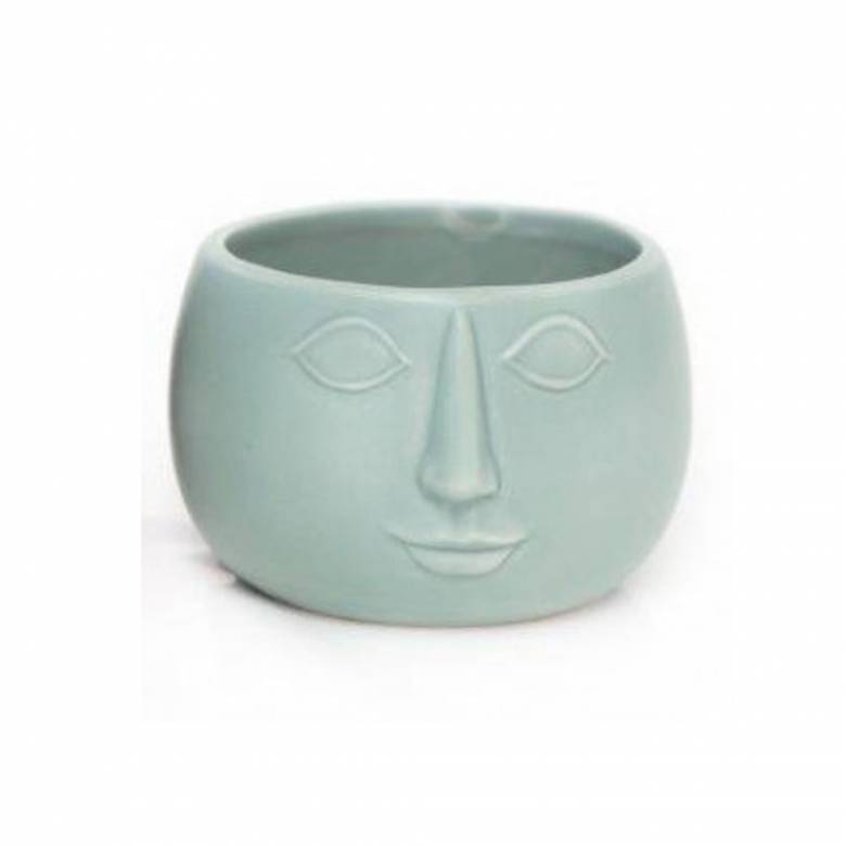 Face Planter Bowl Green 13.5cm