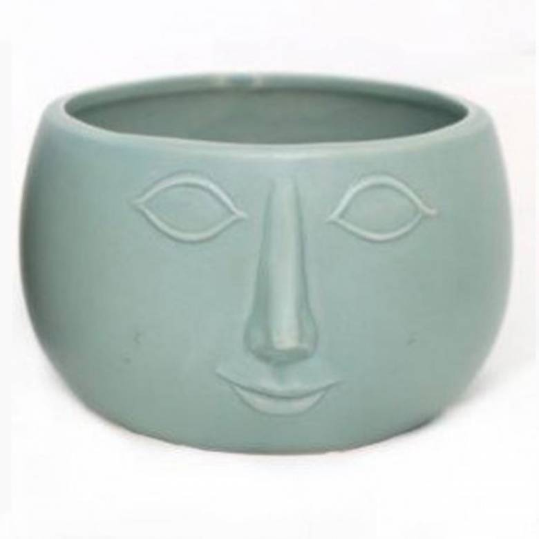 Face Planter Bowl Green 16.5cm