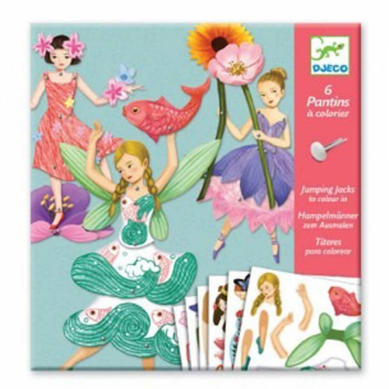 Fairies - Jumping Jacks To Colour In 6+