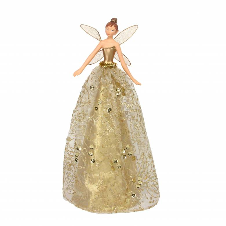 Large Gold Fairy Christmas Tree Topper