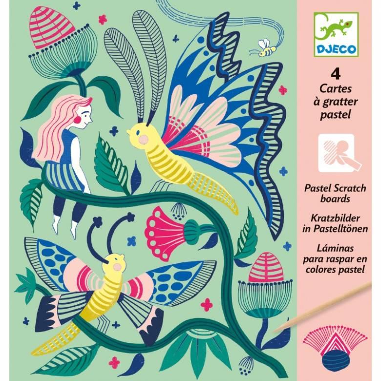 Fantasy Garden - Scratch Art Cards 6+