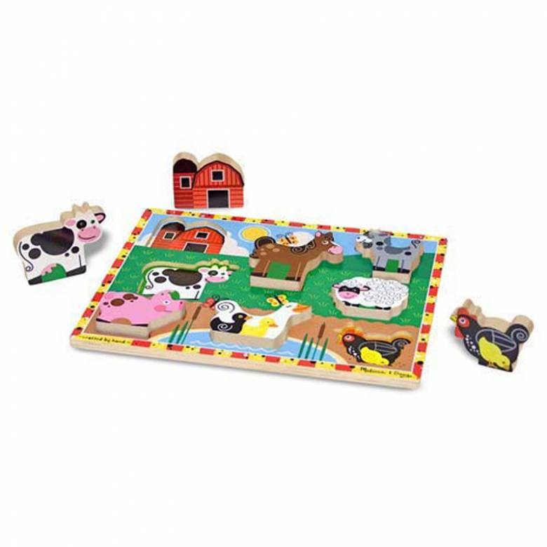 Farm Animals - Chunky Peg Puzzle 2+