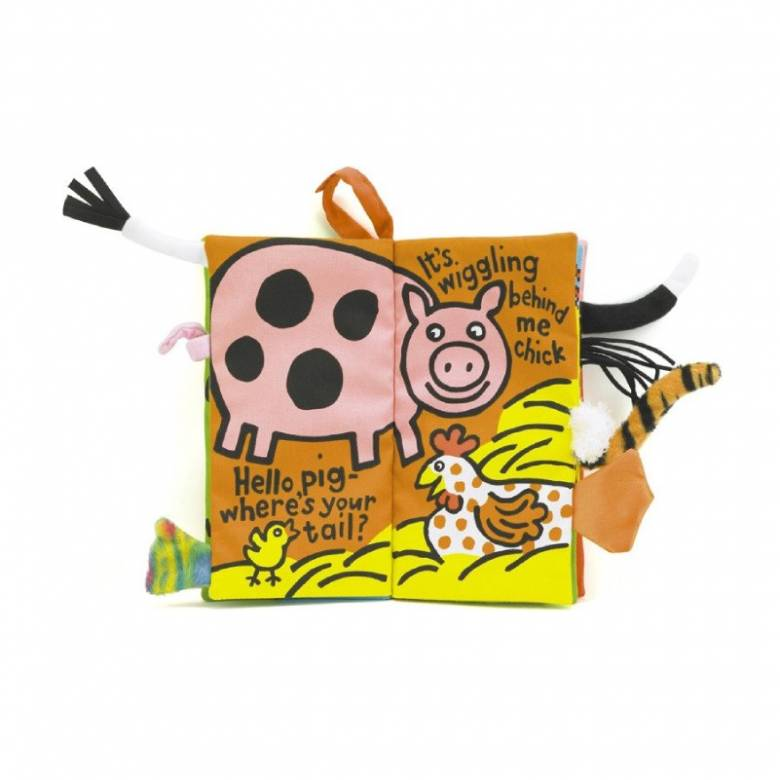 Farm Tails Soft Fabric Book By Jellycat