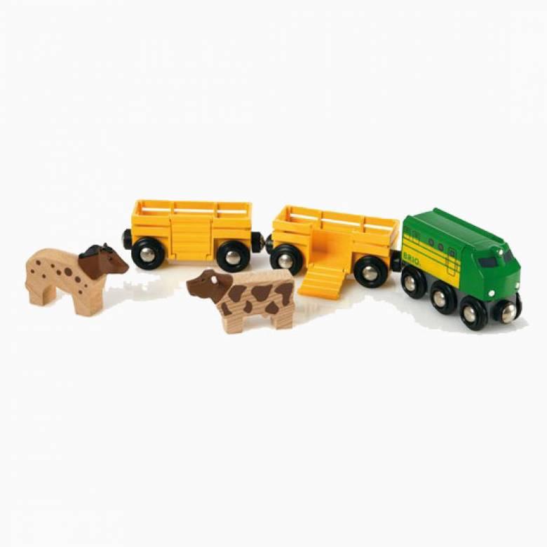 Farm Train BRIO Wooden Railway Age 3+