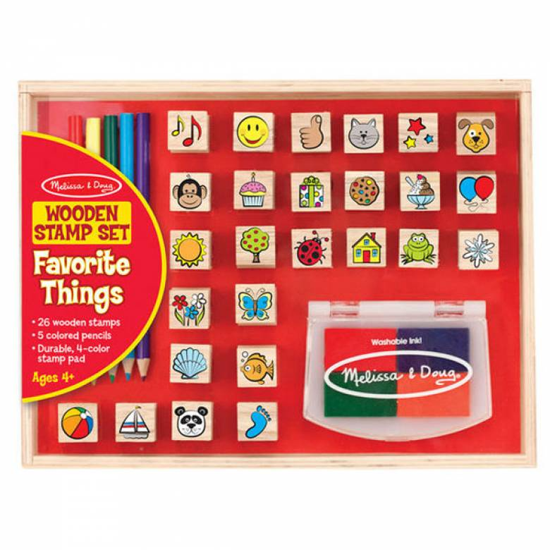Favourite Things Wooden Stamp Set By Melissa & Doug 4+