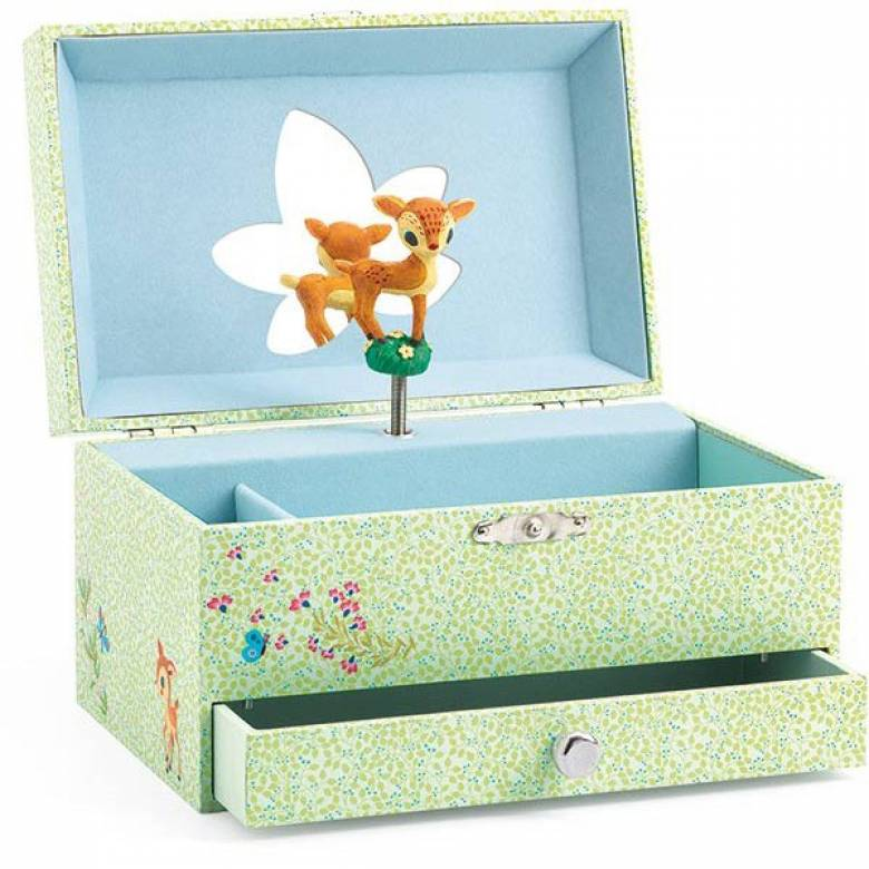 Fawn Music Box With Drawer By Djeco