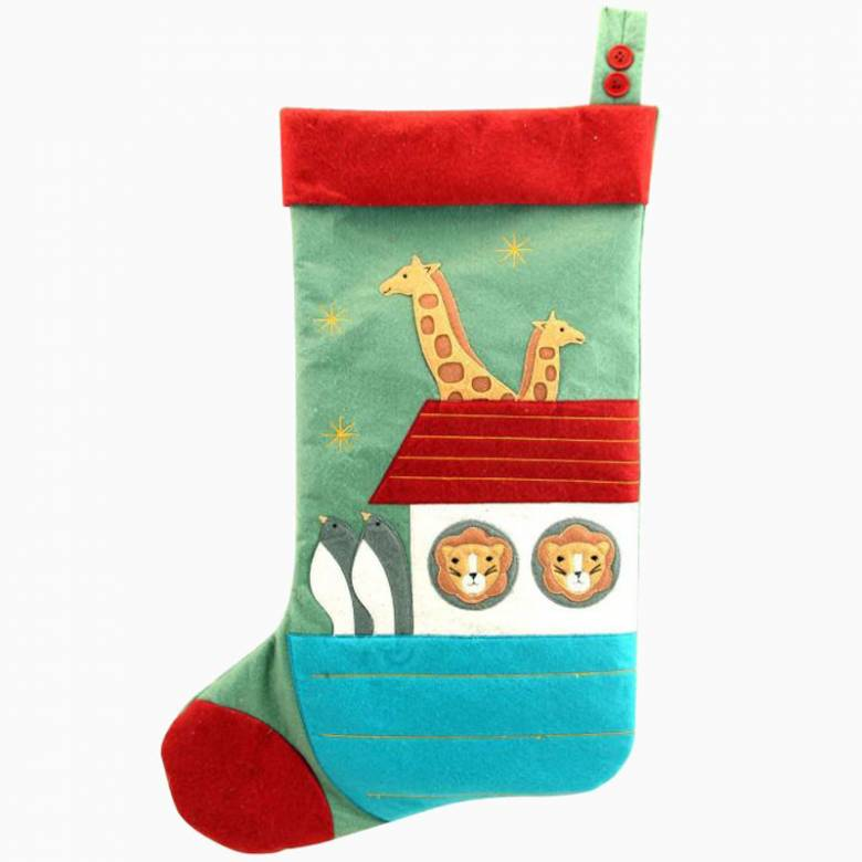 Felt Noah's Ark Stocking