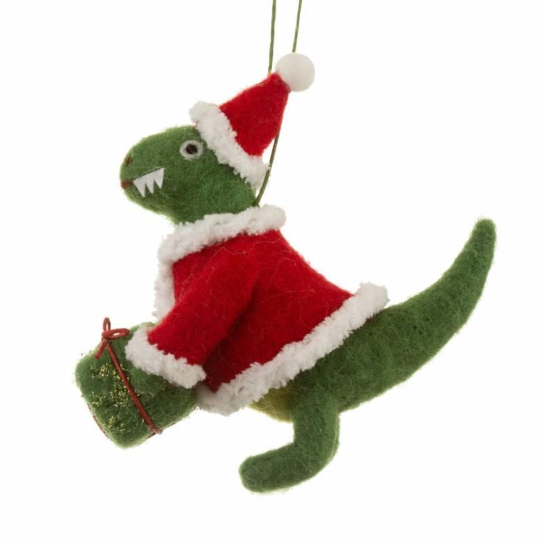 Felt Santasaurus Dinosaurs Christmas Decoration
