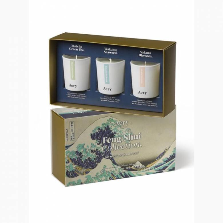 Feng Shui Gift Set Of 3 Votive Candles By Aery