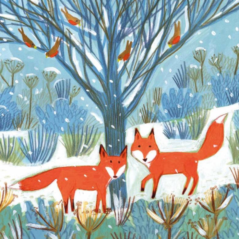 Festive Foxes - Pack Of 8 Christmas Cards By Museums & Galleries