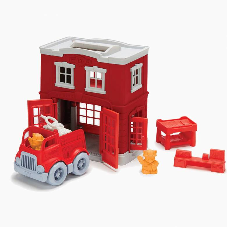 Fire Station Playset By Green Toys - Recycled Plastic 2-6yrs