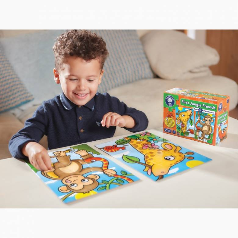 First Jungle Friends Jigsaw Puzzles By Orchard Toys 2+