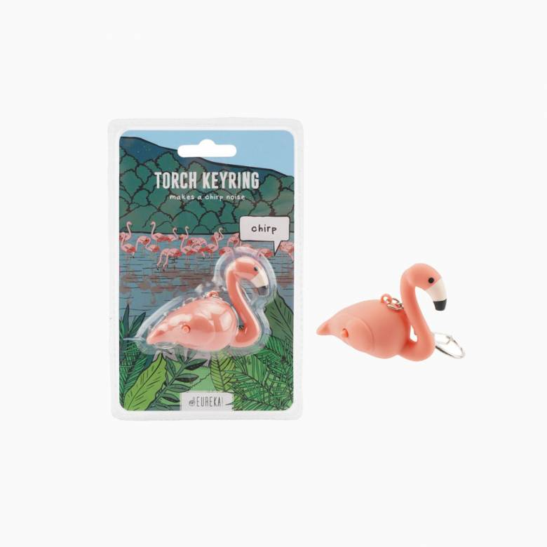 Flamingo Keyring With Torch And Sound