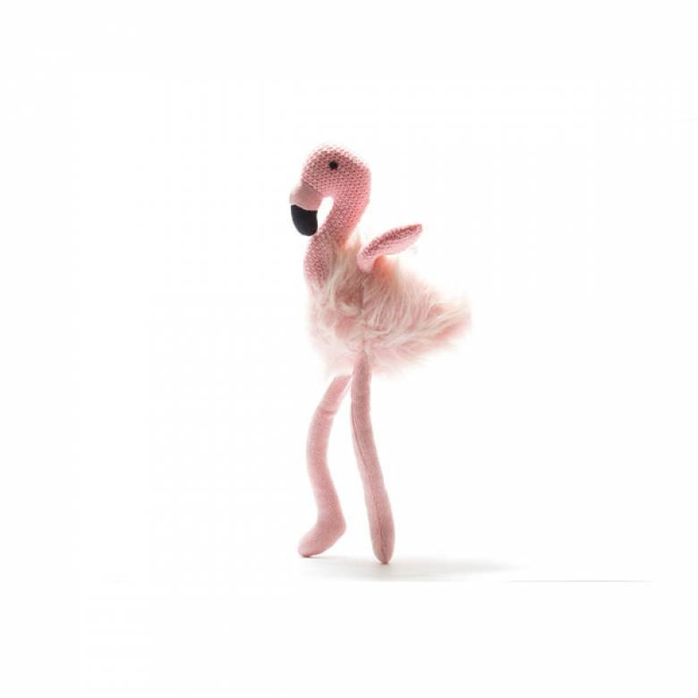 Knitted Flamingo Soft Toy