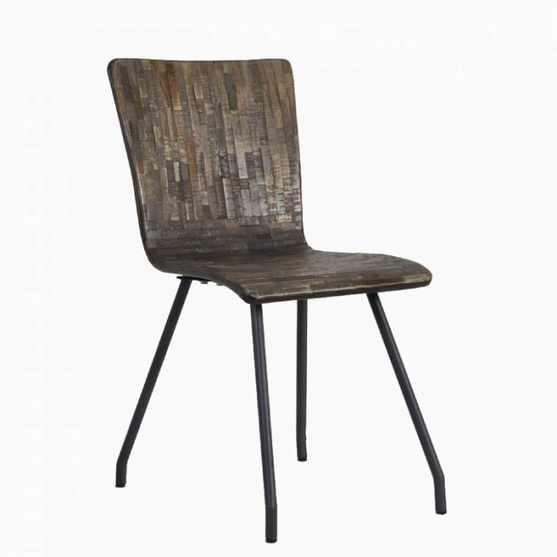 Flores Reclaimed Wood Curved Dining Chair