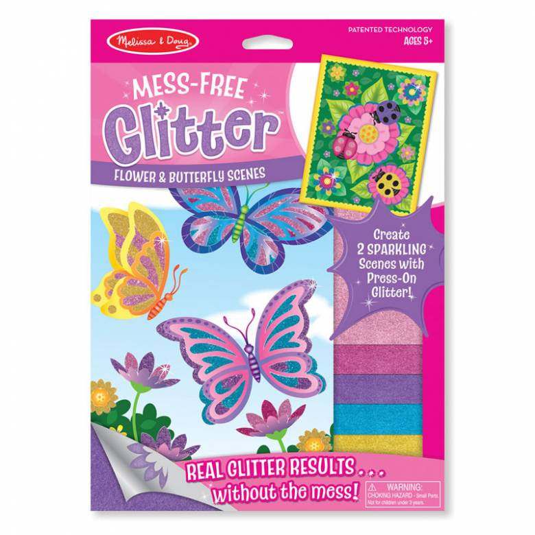 Flower And Butterfly -  Mess-Free Glitter Sheets