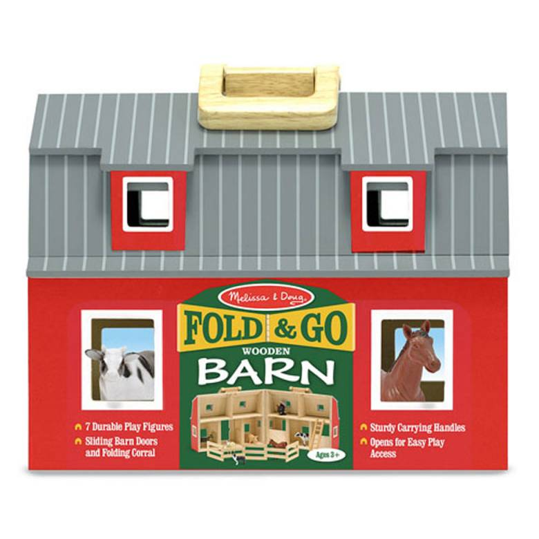 Fold & Go Wooden Barn By Melissa & Doug 3+