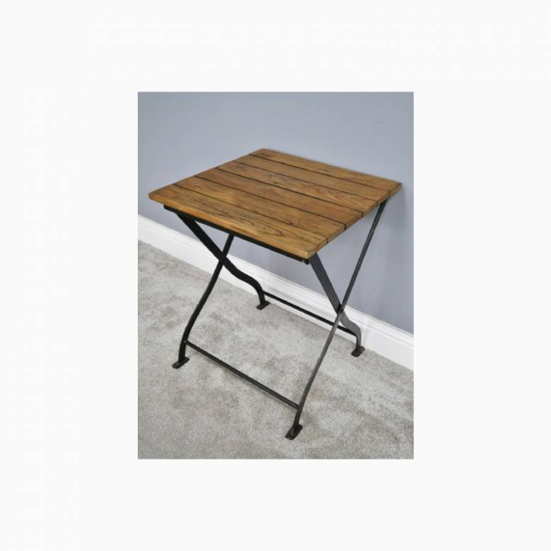 Folding Wooden Slatted Garden Table