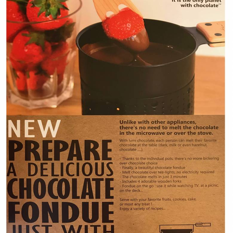 Tealight Chocolate Fondue Set For 4