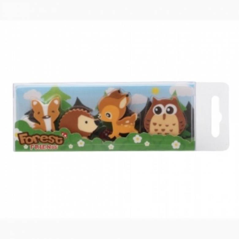 Forest Friends Animal Eraser Pack
