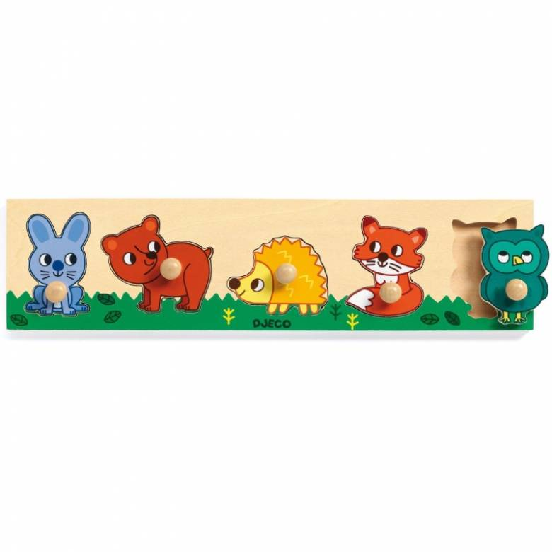 Forest'n'co Wooden Peg Puzzle By Djeco 1+