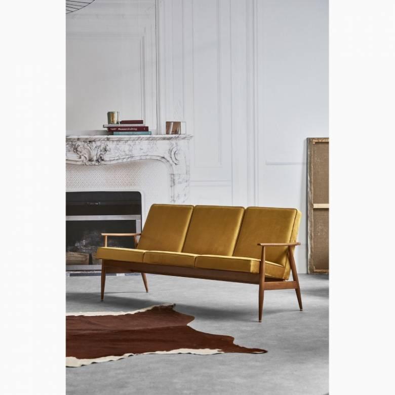 Fox 3 Seater Sofa - Velvet Fabric