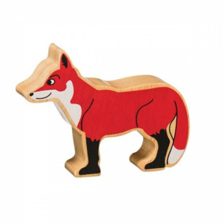 Fox Wooden Painted Animal Fairtrade Lanka Kade