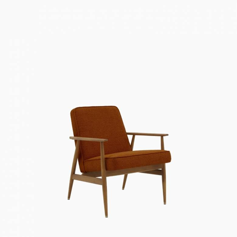 Fox Lounge Chair In Boucle Fabric