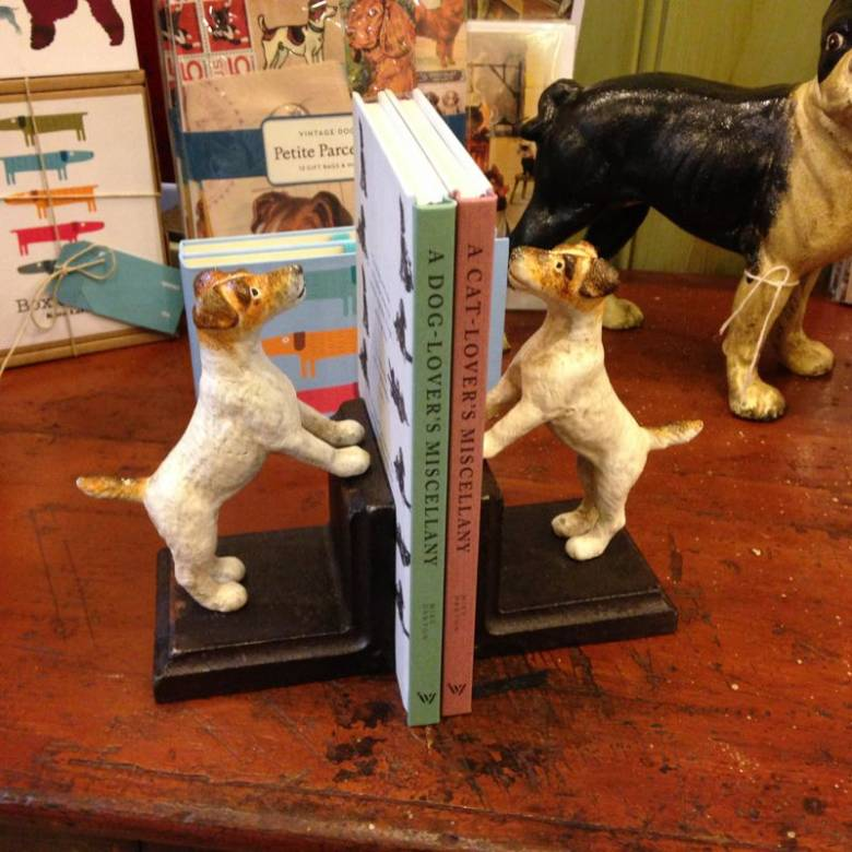 Fox Terrier Dog Bookends