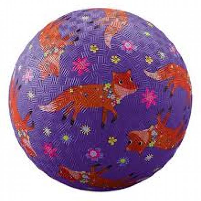 Foxes - Large Rubber Picture Ball 18cm