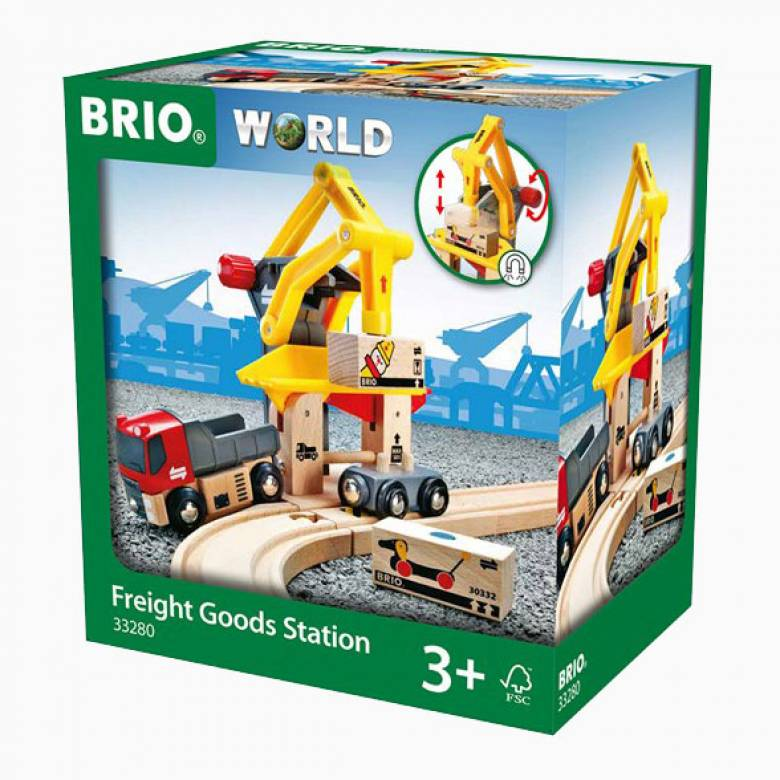 Freight Goods Station BRIO Wooden Railway Age 3+