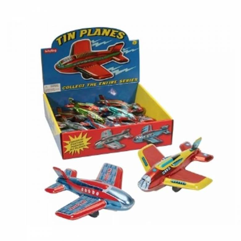 Tin Toy Friction Plane 11cm  3+yrs