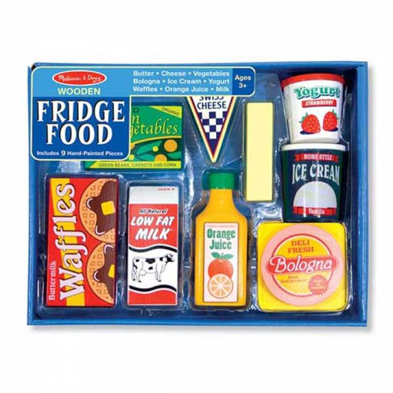 Wooden Fridge Food Set By Melissa & Doug 3+