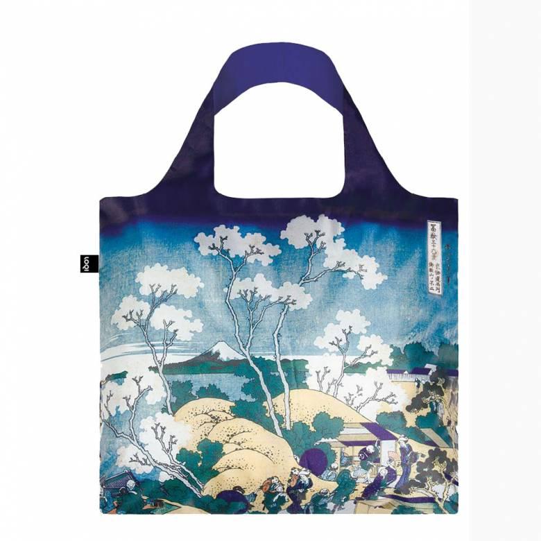 Fuji Hokusai - Reusable Tote Bag With Pouch