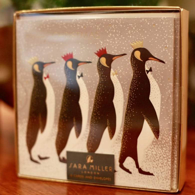 PENGUIN Box Of 8 Luxury Boxed Christmas Cards By The Art File
