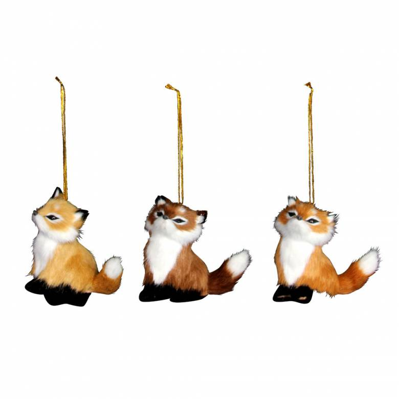 Furry Fox Christmas Decoration