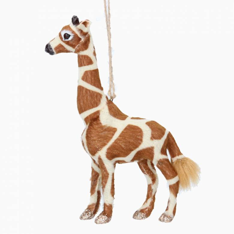 Furry Giraffe Christmas Decoration
