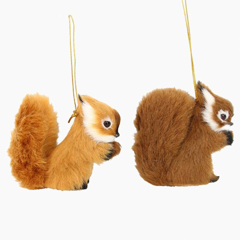 Furry Squirrel Christmas Decoration By Gisela Graham