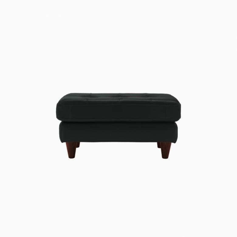 G Plan Vintage The Fifty Nine Cambridge Leather Footstool