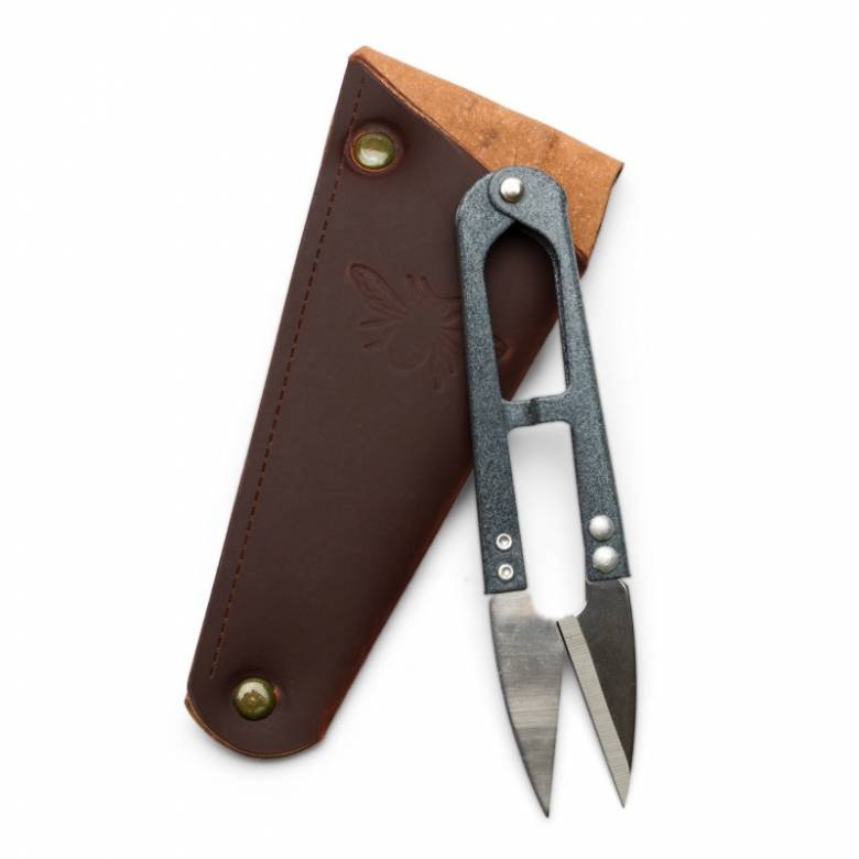Gardening Snips In Recycled Leather Pouch