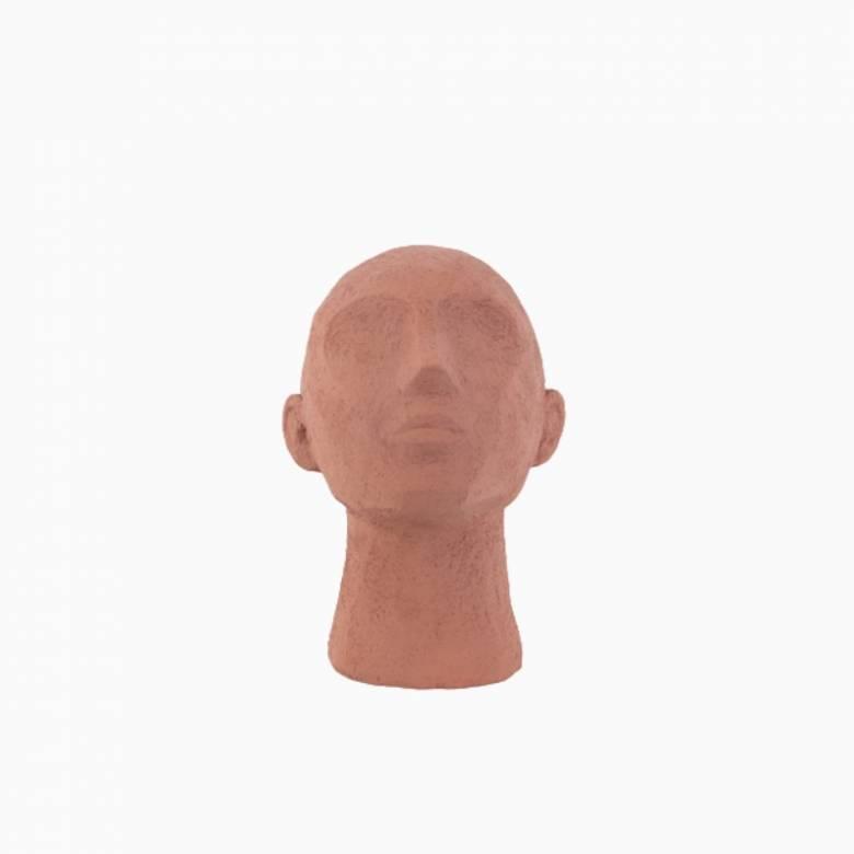 Gazing Head Model In Terracotta Orange
