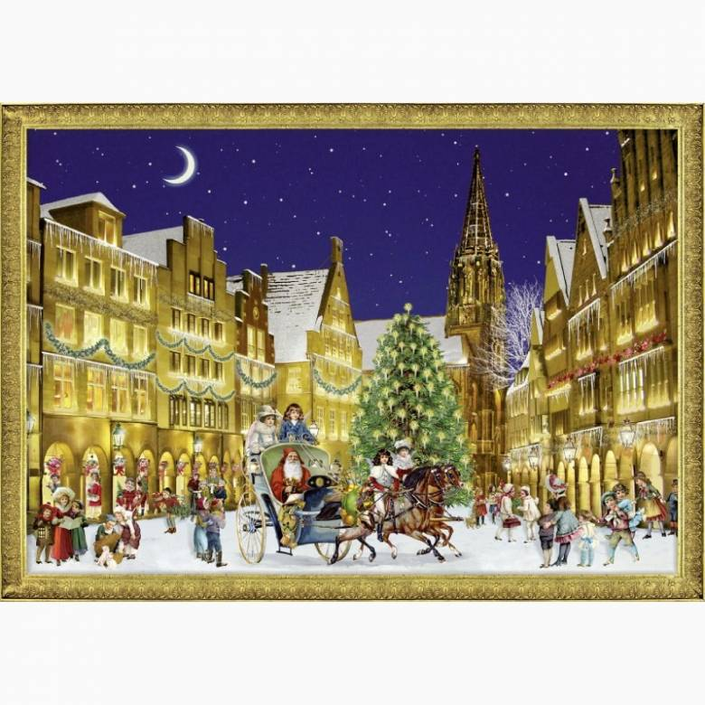 German Town At Christmas A4 Advent Calendar