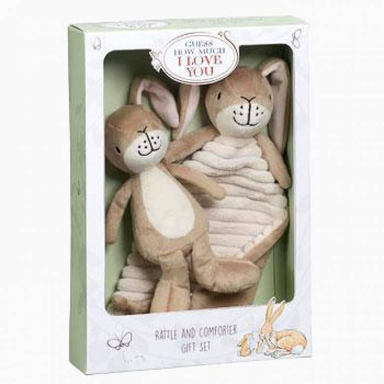 Guess How Much I Love You Rattle And Comforter Gift Set