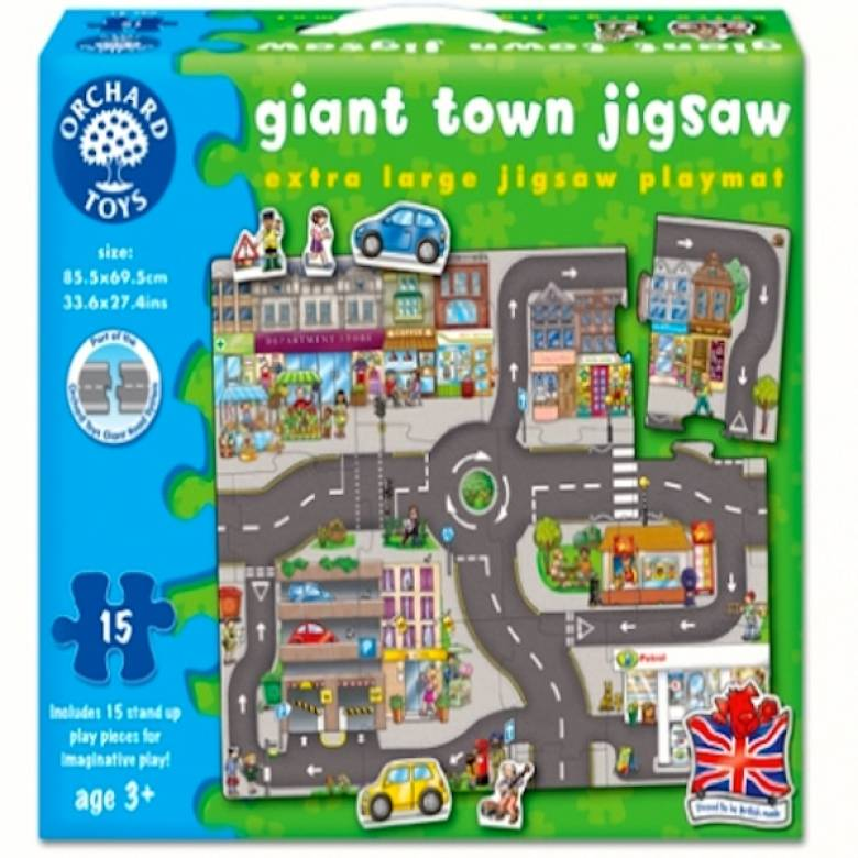 Giant Town Floor Jigsaw Puzzle By Orchard 3+
